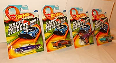 Hot Wheels Mattel Father's Day 2015 Special/Limited Release - All 4 Cars Included. from Mattel