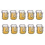 TOYMYTOY Cartoon Brooch Pins Cute Beer Mug Flashing LED Light Up Badge Oktoberfest Decorations Beer festival Favors size 10pcs