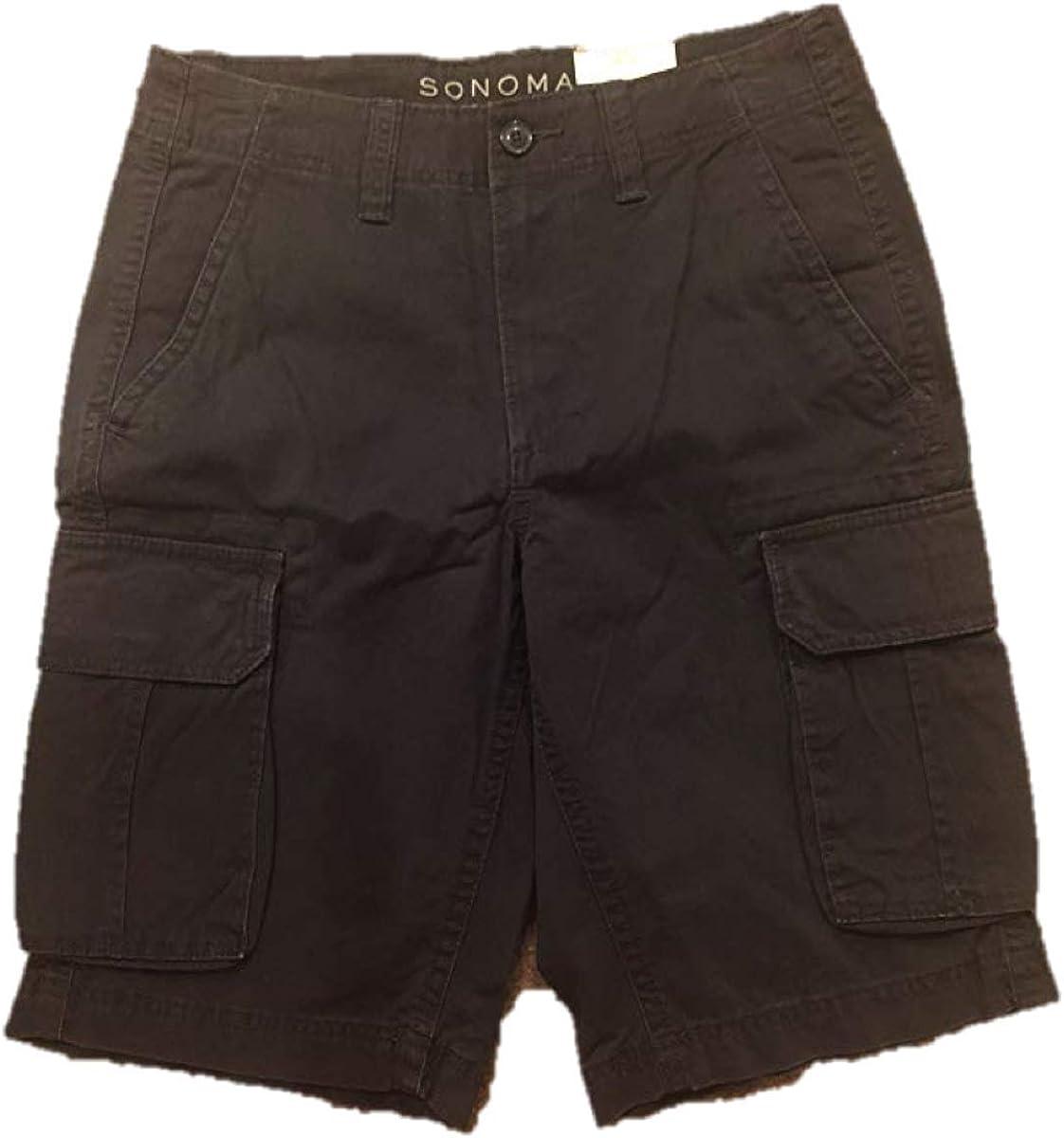 Sonoma Mens Flat Front Cargo Shorts Size 30