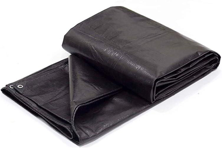 XX Tarpaulin XiaoXIAO Baton de Poncho rembourré en Toile de Parasol pour Le Voyage en Plein air Poncho en Tissu en Plastique, Noir, 23 Tailles Bache (Taille   3mX4m)