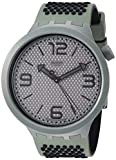 Swatch Reloj Analógico para Hombre de Cuarzo con Correa en Silicona SO27M100
