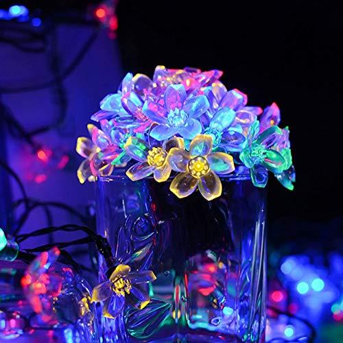 Bebliss Flower String Lights LED Fairy Twinkle Wire Lamp Lámparas de Dormitorio Decorativas para Fiesta