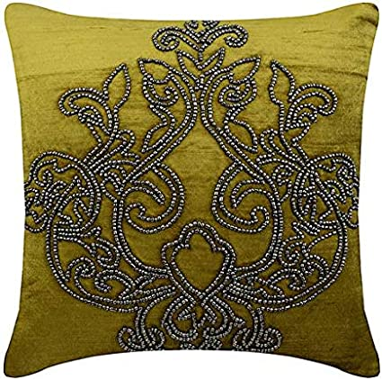 HiDay 18/×18 Luxury Velvet Cushion Cover Gold Leather Striped Cushion Cases Modern Embroidered Throw Pillow Cover Decorative Pillow for Couch Living Room Bedroom Car Housses de coussin Velour de Luxe Rayures Simili Cuir Dor/ées Housses D/&eacut