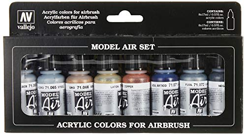 Vallejo-Kit pittura acrilica colori per aerografo, colori assortiti