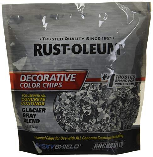 Rust-Oleum 312449 Glacier Gray Blend, 1 lb. Bag Decorative Color Chips