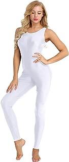 Womens Sleeveless One Piece Tank Unitard Jumpsuit Stretch Spandex Bodysuit Rompers
