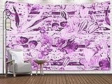 N\A Tapestry Blue, Wall Tapestry, Home Art of Cotton for D & Eacute; Cor Living Room Dorm Garden Detalles Lanzarote Island España
