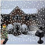 Proyector de Luces Navidad, LSNDEE Luce LED Para Copos de Nieve, Decoración Navideña Para Interiores Iluminación Exterior a Prueba de Agua Giratoria Para Copos de Nieve Luz de Jardín