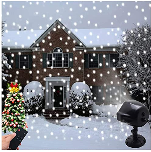 Luci di caduta della neve del LED, LSNDEE luci del proiettore di Natale, Decorazioni natalizie Indoor Outdoor impermeabile Fiocco di neve rotante Paesaggio lampada con telecomando Illuminazione