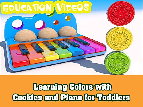 Learning Colors with Cookies and Piano for Toddlers