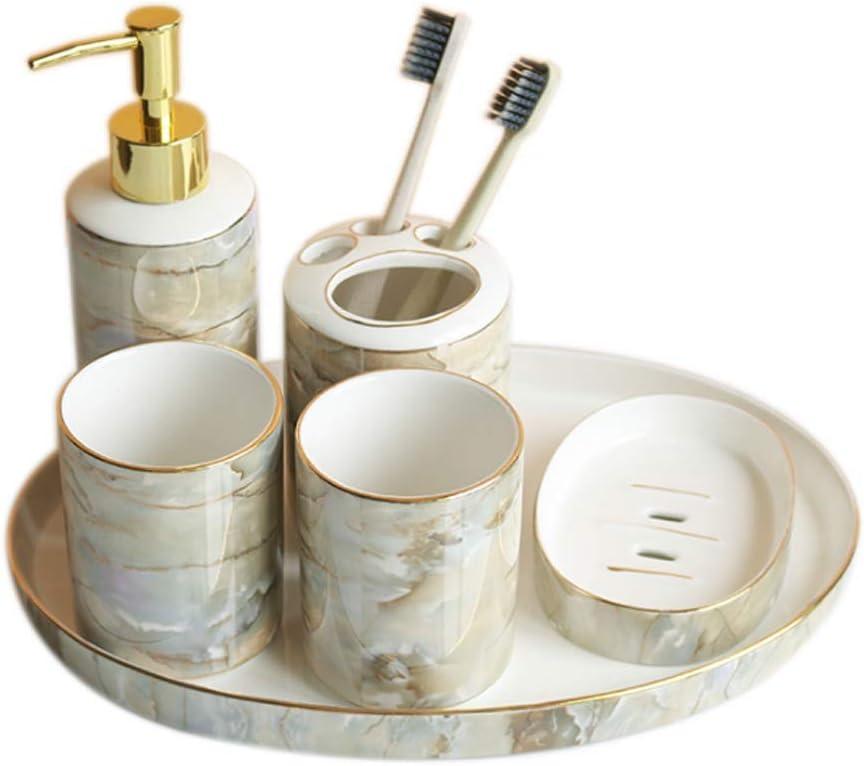 QIFFIY Sales results No. 1 Bathroom Mesa Mall Accessories Set Accessory 6Pcs Ceramic