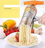 MUUZONING Torchio per Pasta Macchina per la Pasta Torchietto Stampo Passatelli Schiacciapatate Pasta Maker Manuale Noodles Pressa, Marmellata, Verdure e Frutta Juicer Manualmente con 6 Noodle Mould