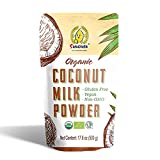 SUNGIVEN Organic Coconut Cream   Milk Powder, Perfect Keto Coffee Creamer - High in MCT Oil, Vegan, No Added Sugar, Gluten and Dairy Free-17.6 Oz