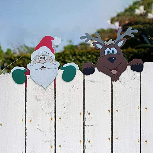 Staccionata a tema natalizio e sbirciatina da giardino, affascinante decorazioni per la...