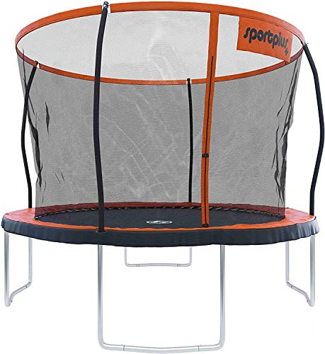 sportplus Garden Trampoline – Rebounder with High-quality Jumping Surface – Patented & Weld-seam-free Frame Construction – Quick-fold Safety Net – Incl. Edge Cover