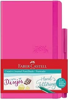 Caderno Pontilhado + Fine Pen, Faber-Castell, Creative Journal, CDNETA/RS, 84 Folhas, Rosa