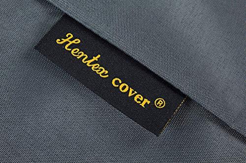 HENTEX Schutzhülle Cover Eckbank für Gartenmöbel Abdeckung L-Form, Grau, 255x255x100x70H cm - 10