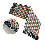 Neuftech 40x 20cm Jumper Dupont Cables de Puente Hembra a Hembra para Arduino