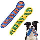 SCENEREAL Dog Water Pool Toys - 2 Pack Float Snakes, Interactive Chew Squeaky Toys Durable for Pet to Chew Play in Hot Summer, 2 Squeakers Inside