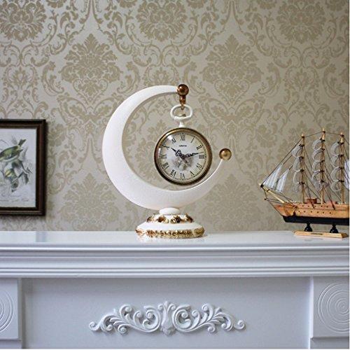 Clock Horloge, Horloge de Style européen Creative TV Armoire décoration Salon Maison Bureau Horloge (32 * 38cm) (Taille : 32 * 38cm)