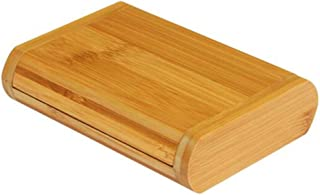 Essential Oil Box Bamboo Storage Box Essential Oil Display Stand High-end Packaging Gift Box Best Gift 3 Grid (Color : Beige, Size : 15 * 10.5 * 3.5cm)