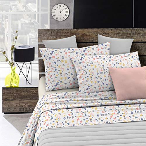 Italian Bed Linen Fantasy Completo Letto, Microfibra, Multicolore (Background), A Una Piazza e Mezza