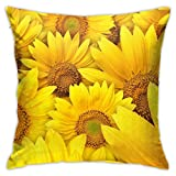 MIXCDER Yellow Sunflower Throw Pillow Covers Home Decorative Cushion Case Square 18x18 Inch