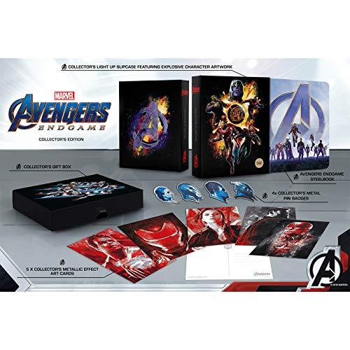 Avengers Endgame 4K Ultra HD Collectors Set / Includes 4K Steelbook / Light Up Display Box / Art Work / Badges / Import / Region Free 4K Ultra HD Disc+2D Blu Ray