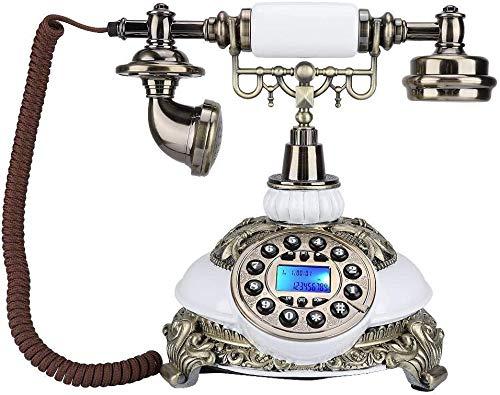 AWAING Telefonos Antiguos Vintage Teléfono Antiguo Europeo, teléfonos de teléfono Retro Vintage Teléfono Fijo FSK/DTMF de Escritorio clásico con & Amp; Pantalla de identificación de llamad