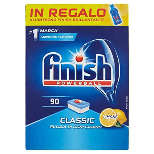 Detergente Finish Classic, 90 pastillas, limón, 1440 gr