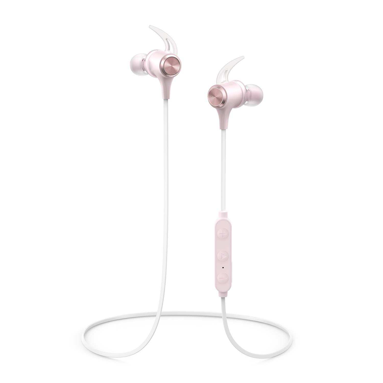 Amazon Com Boltune Wireless Headphones Bluetooth V5 0 Ipx7 Waterproof 16 Hours Playtime Bluetooth Headphones With Magnetic Connection Sports Earbuds For Running Built In Mic Pink Bt Bh001 Electronics