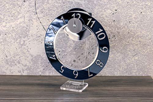 WoW Clock Design Orologio da Tavolo Smoking Black Idea Regalo Originale Color Fumèe Orologio D'arredo Design Diametro 18cm