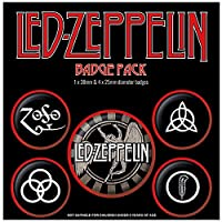 LED ZEPPELIN レッドツェッペリン - Symbols 5個セット / バッジ 【公式/オフィシャル】