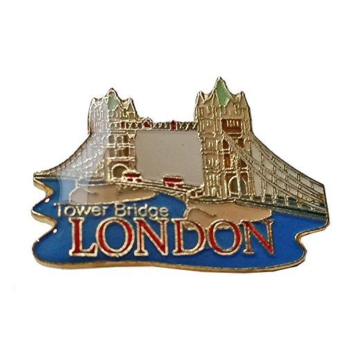Tower Bridge Revers Pin - Abzeichen aus Metall und Email / Britische Andenken von London England Vereinigtes Königreich von Großbritannien
