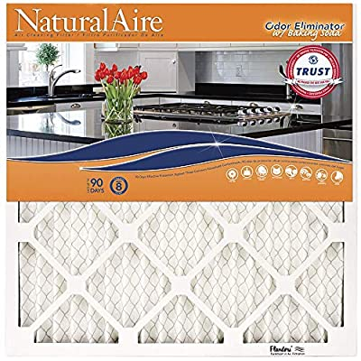 NaturalAire Odor Eliminator Air Filter with Baking Soda, MERV 8, 17.5 x 29.5 x 1-Inch, 4-Pack