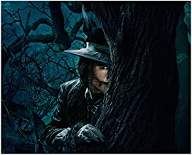 Into the Woods 8 x 10 Photo Johnny Depp/The Big Bad Wolf Peeking Out From Behind Tree kn