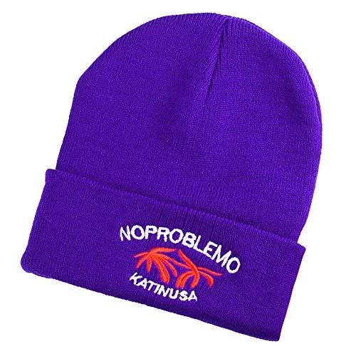 NPRADLA 2018 Erwachsene Mütze Damen Winter Drucked Männer Winter Häkeln Strickmütze Einfarbig Warme Kappe(One Size,Violett)