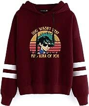 Detroital Women's My Hero Academia That's Wasn't Very Plus Ultra of You Hoodie Striped Sleeve Sweatshirt