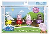 Peppa Pig 92648 – Peppa & Friends – Juego de 4 Figuras de Juguete con Peppa Pig, Luzie Locke, Emily Elefant y Klausi Klauff, Juguete a Partir de 2 años