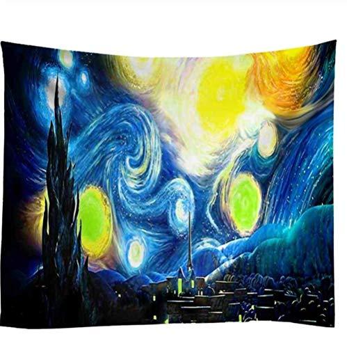 Zbzmm Galaxy wandtapijt Boheemse Mandala wandtapijt Van Gogh schilderij print sterrenhemel wandtapijt hangen camping tent reizen