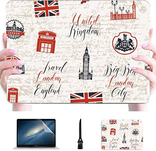 A1706 MacBook Pro Case London Symbols with Elizabeth Tower Big Ben Plastic Hard Shell Compatible product image
