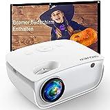 GROVIEW WiFi Beamer, 6500 Lumen Mini Video Beamer mit Bildschirm,...