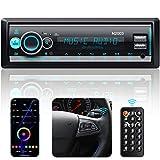 Radio de Coche Bluetooth, CENXINY Autoradio Manos Libres Bluetooth 5.0 FM/USB/WMA/AUX/MP3/EQ/ X-Bass, App/Volante/Control Remoto, Pantalla LCD de 7 Colores