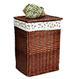 SFGH Canasta de Almacenamiento de Mimbre Ropa Sucia para el hogar/Juguetes/Artículos Varios Canasta de Almacenamiento con Tapa Caja de cestas de lavandería
