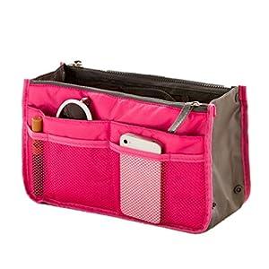 51xUG2ATszL. SS300  - TheWin - Organizador de Viaje para cosméticos, Color Hot Pink, tamaño 1