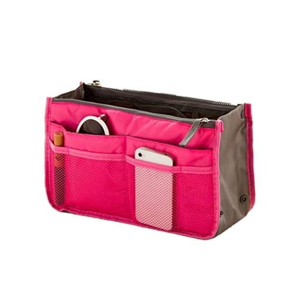 51xUG2ATszL. SS600  - TheWin - Organizador de Viaje para cosméticos, Color Hot Pink, tamaño 1