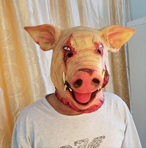 tytlmask griezelige varken hoofd maskers, latex terreur rekwisieten accessoire, voor halloween kostuum partij spookhuis voor maskerade kostuums theater rol spelen carnaval