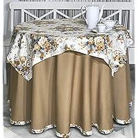 INUSUAL Falda o Ropa de Camilla Redonda Verano 90x75 y a Medida, Modelo Victoria (CAMEL2)