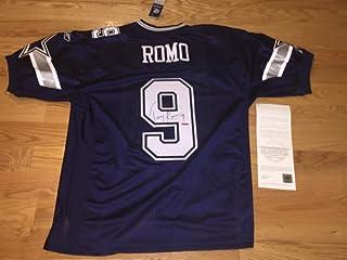 2cf71f776d4 Tony Romo Autograph Signed Authentic Cowboys Blue Reebok On Field Jersey UDA