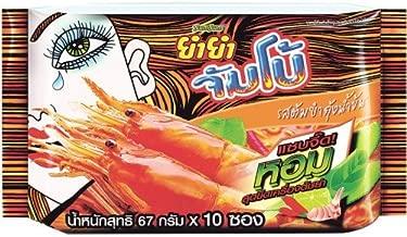 Instant Noodles Yum Yum Jumbo Tom Yum Shrimp Cream Soup Flavour 67 G. Pack 10